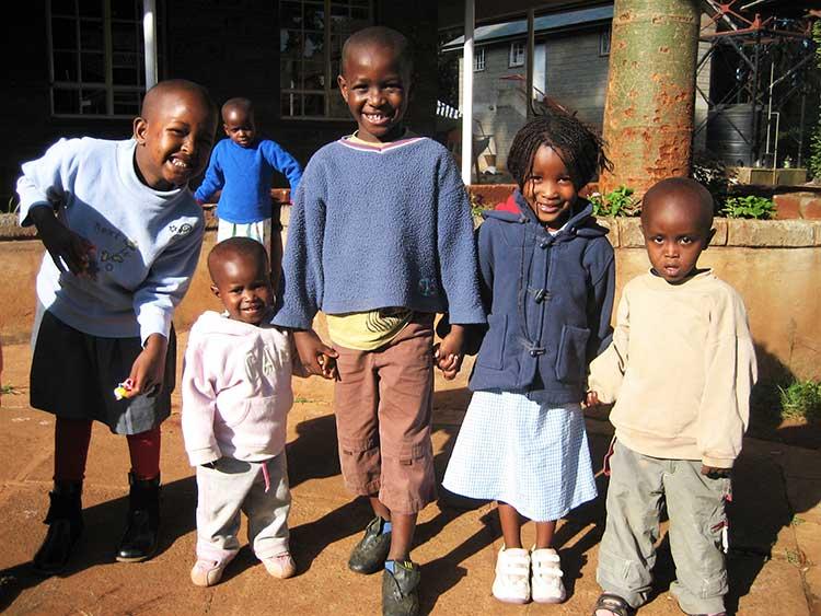 Kids at the Nyumbani orphanage