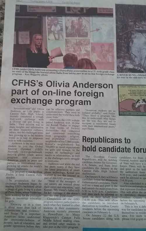 Operative in newspaper