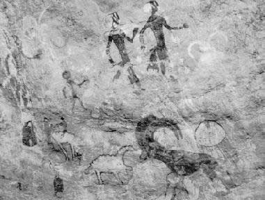 African cave painting