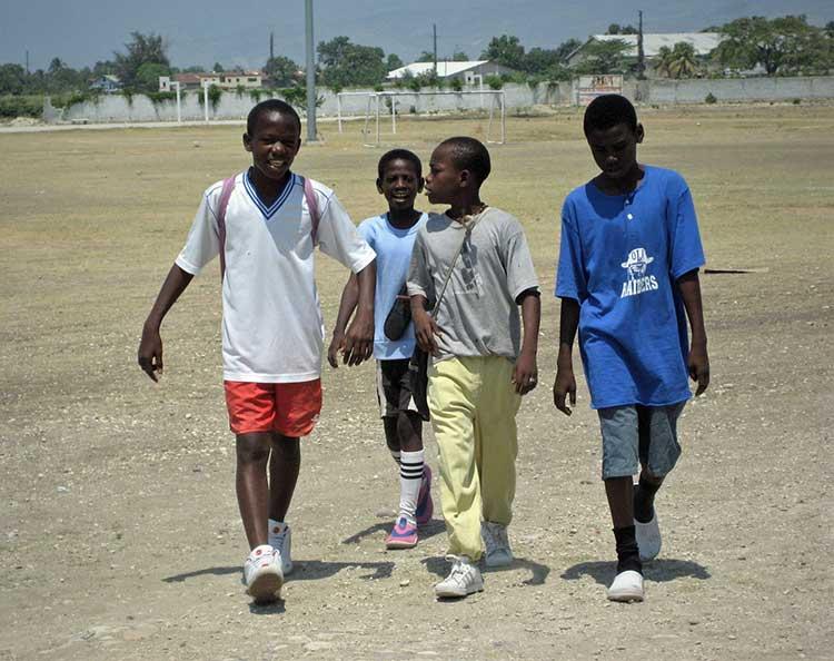 Kids walking after practice