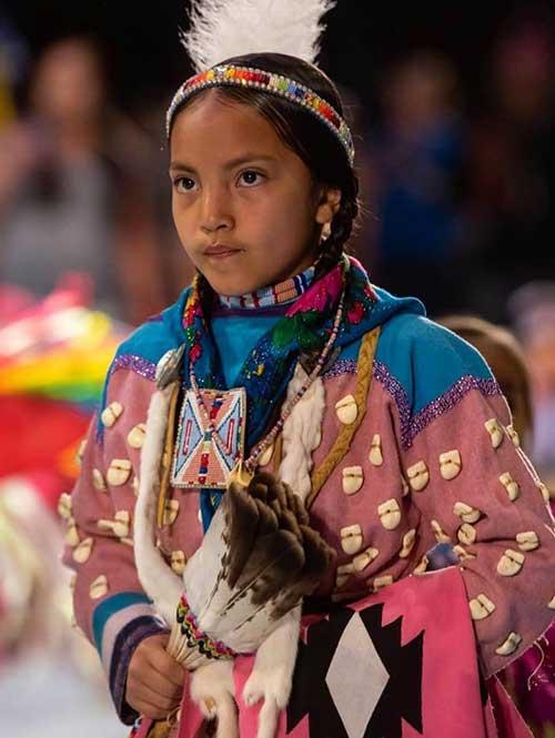 Girl at native festival