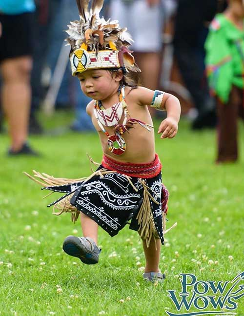 Native boy dancing