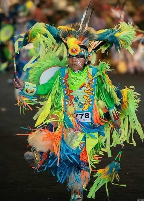 Traditional pow wow attire