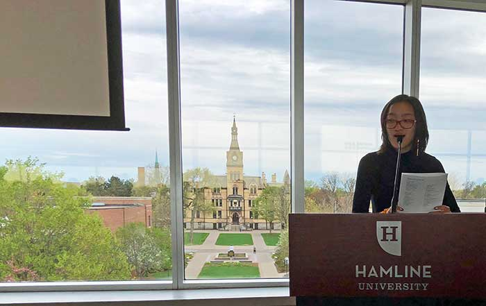 Presenting at Hamline University