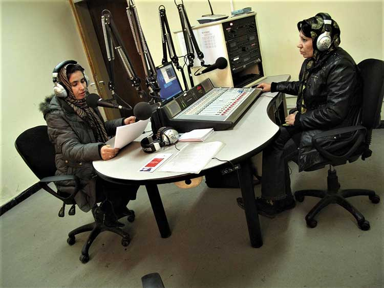 Afghan radio hosts