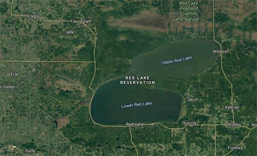 Satellite map of Red Lake