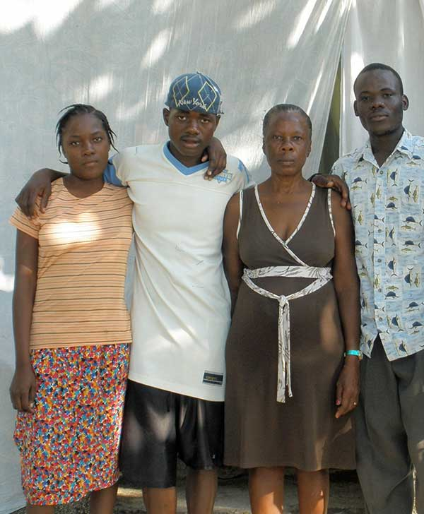 Robenson with his family