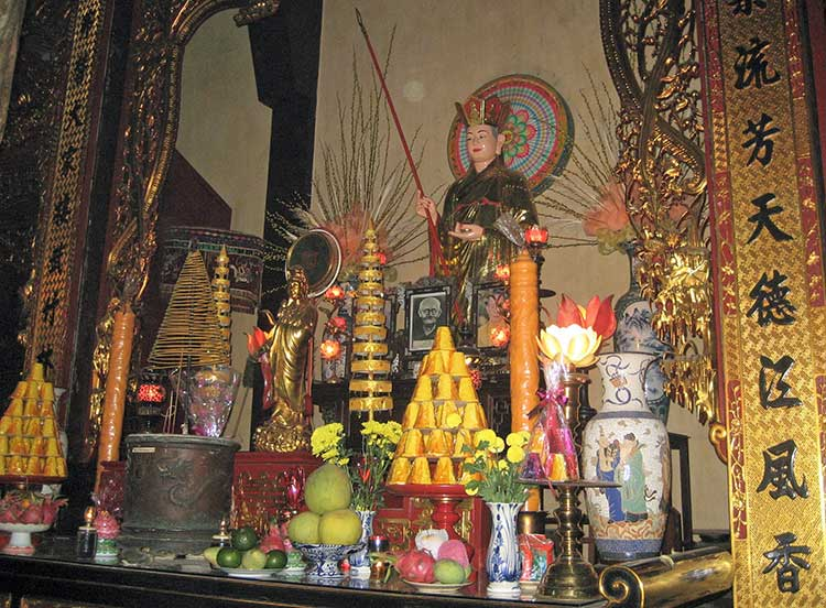 Offerings inside temple