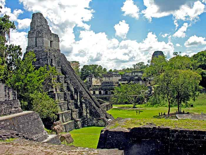 Tourists at Tikal