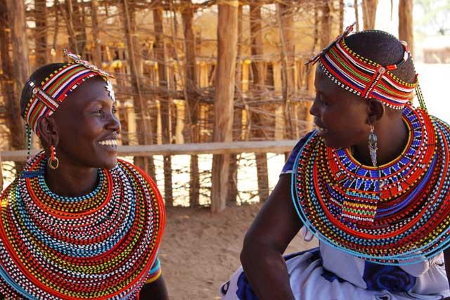 Women at the Umoja village