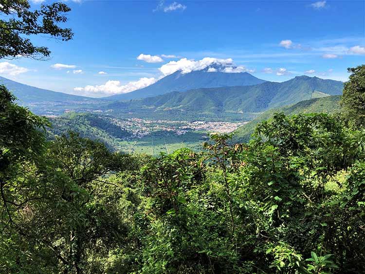 Overlooking Guatemalan valley