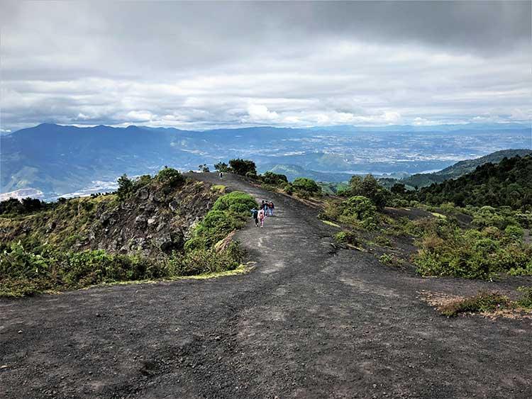 Top of volcano Pacaya