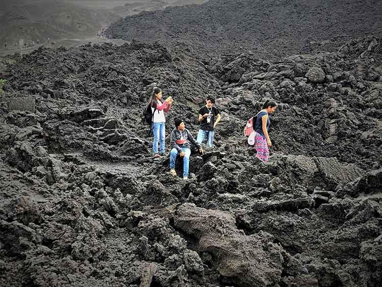 Summit of Pacaya volcano