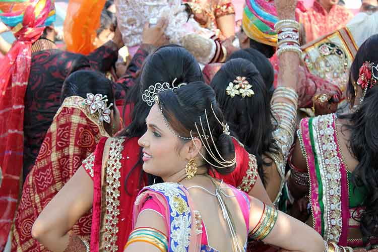 Indian women at wedding